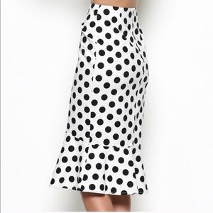 Skirts - Polka dot ruffle hem skirt